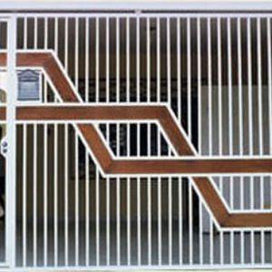 Portão com detalhe em madeira automatico em São Paulo