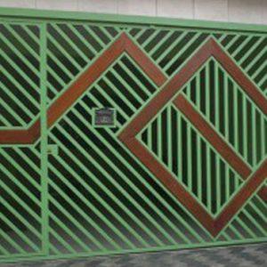 Fabrica de Portão com detalhe em madeira Perdizes