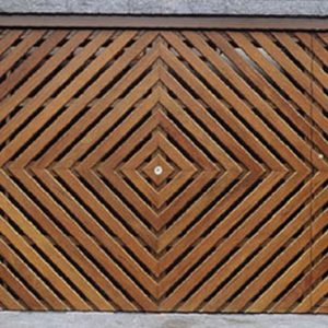 Fabrica de Portão com detalhe em madeira Mooca