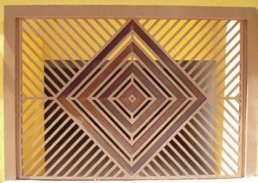 Fabrica de Portão com detalhe em madeira São Bernardo do Campo